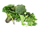 Increase the portion of green vegetables